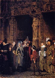Leaving Church in the Fifteenth Century, 1864 by Alma-Tadema | Painting Reproduction