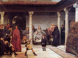 The Education of the Children of Clovis, 1861 by Alma-Tadema | Painting Reproduction
