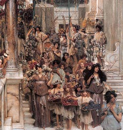 Spring (Detail), 1894 by Alma-Tadema | Painting Reproduction