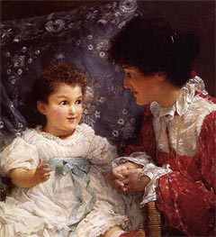 Mrs George Lewis and Her Daughter Elizabeth | Alma-Tadema | Painting Reproduction
