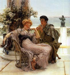 Courtship (The Proposal) | Alma-Tadema | Painting Reproduction