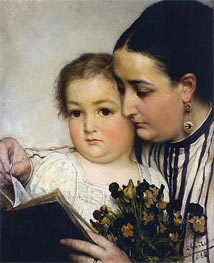 Portrait of Mme Bonnefoy and M. Puttemans | Alma-Tadema | Painting Reproduction