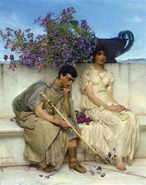 An Eloquent Silence | Alma-Tadema | Painting Reproduction