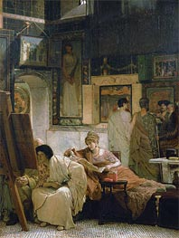 A Picture Gallery | Alma-Tadema | Painting Reproduction