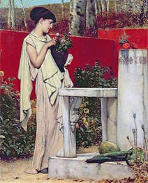 Woman with a Vase of Flowers | Alma-Tadema | Painting Reproduction