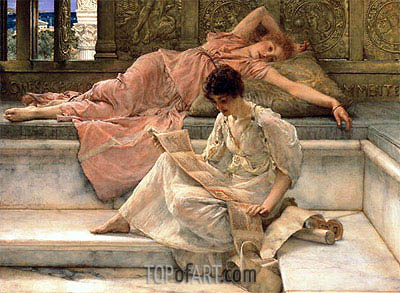 The Favourite Poet, 1889 | Alma-Tadema | Painting Reproduction