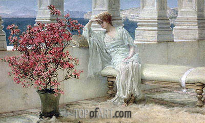 Her Eyes are with Her Thoughts and They are Far Away, 1897 | Alma-Tadema | Gemälde Reproduktion