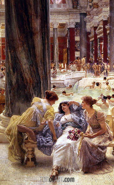 The Baths of Caracalla, 1899 | Alma-Tadema | Painting Reproduction