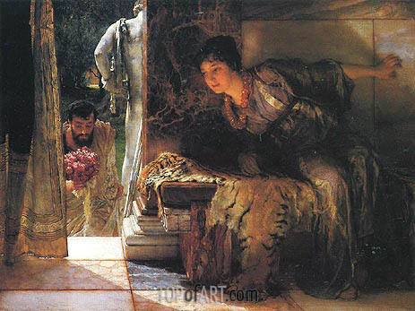 Welcome Footsteps, 1883 | Alma-Tadema | Painting Reproduction