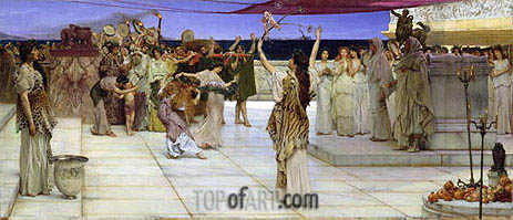 A Dedication to Bacchus, 1889 | Alma-Tadema | Painting Reproduction