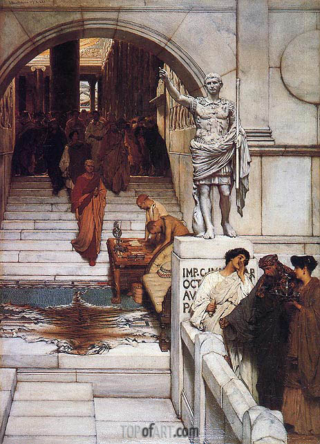 An Audience at Agrippa's, 1875 | Alma-Tadema | Painting Reproduction