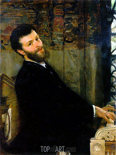 Portrait of the Singer George Henschel, 1879   Alma-Tadema   Painting Reproduction