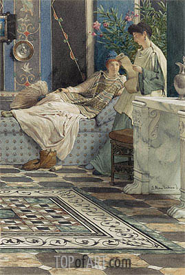 From an Absent One, 1871   Alma-Tadema   Painting Reproduction