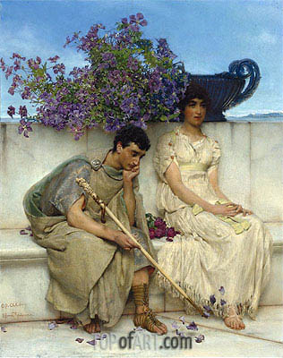 An Eloquent Silence, Undated | Alma-Tadema | Painting Reproduction