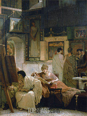 A Picture Gallery, Undated | Alma-Tadema | Painting Reproduction