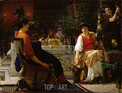 Preparations for the Festivities, 1866 | Alma-Tadema | Painting Reproduction