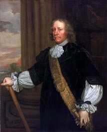 Flagmen of Lowestoft: Vice-Admiral Sir Joseph Jordan | Peter Lely | Gemälde Reproduktion