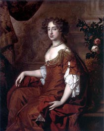 Portrait of Queen Mary II | Peter Lely | Painting Reproduction
