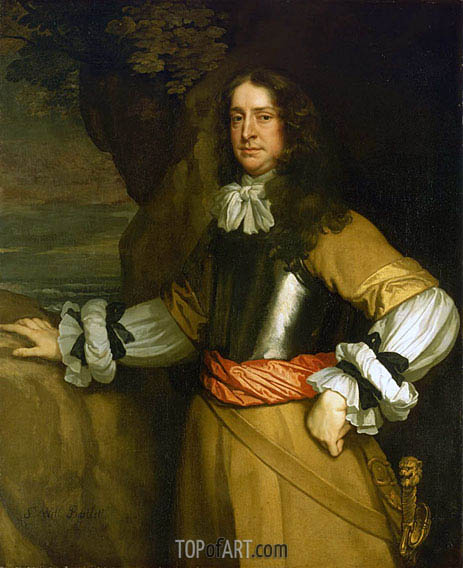 Flagmen of Lowestoft: Vice-Admiral Sir William Berkeley, c.1665/66 | Peter Lely | Gemälde Reproduktion