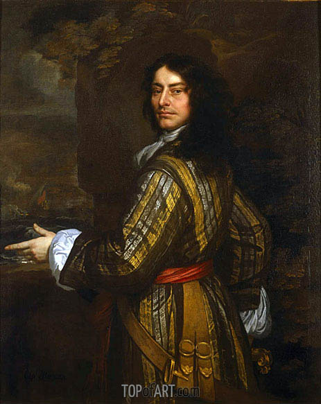 Flagmen of Lowestoft: Admiral Sir John Harman, 1666 | Peter Lely | Gemälde Reproduktion
