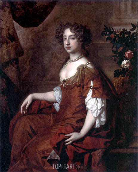 Portrait of Queen Mary II, 1677 | Peter Lely | Gemälde Reproduktion