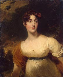 Portrait of Emily Harriet Wellesley-Pole | Thomas Lawrence | Painting Reproduction