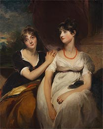 Portrait of Charlotte and Sarah Carteret-Hardy, 1801 by Thomas Lawrence | Painting Reproduction
