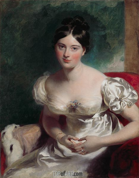 Margaret, Gräfin von Blessington, 1822 | Thomas Lawrence | Gemälde Reproduktion