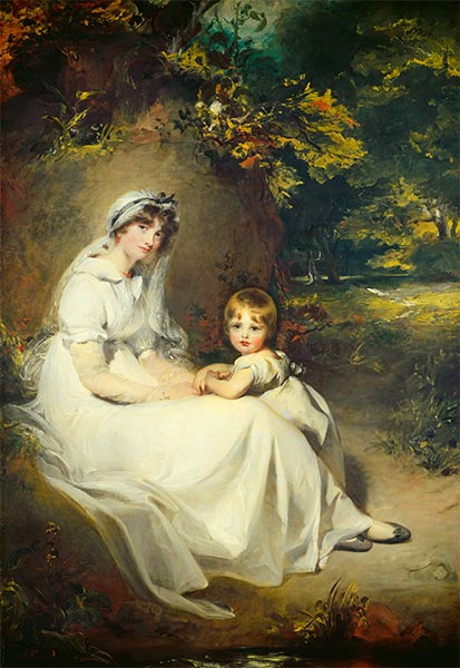 Lady Mary Templetown and Her Eldest Son, 1802 | Thomas Lawrence | Painting Reproduction