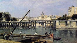 The Seine, c.1870 by Lepine | Painting Reproduction