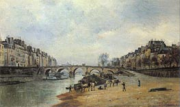 Quais of the Seine, Pont-Marie, 1868 by Lepine | Painting Reproduction
