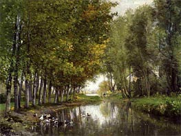 Bras de Seine du cote de Neuilly, c.1878/82 by Lepine | Painting Reproduction