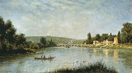 The Seine at the Pont de Sevres | Lepine | Gemälde Reproduktion
