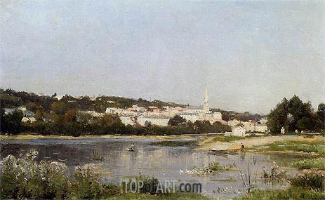 The Banks of the Seine at Saint Cloud, c.1872/77 | Lepine | Painting Reproduction