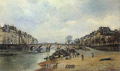 Quais of the Seine, Pont-Marie, 1868 | Lepine | Painting Reproduction