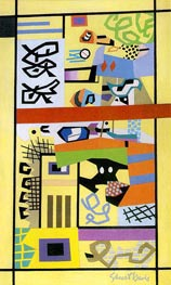 G & W | Stuart Davis | Painting Reproduction