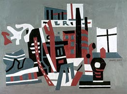 New York Waterfront, 1938 von Stuart Davis | Gemälde-Reproduktion