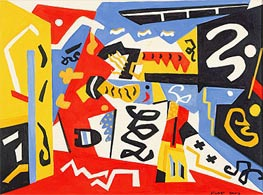 Composition, Undated von Stuart Davis | Gemälde-Reproduktion