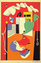 T-View | Stuart Davis | Painting Reproduction