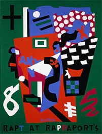 Rapt at Rappaport's, 1952 by Stuart Davis | Painting Reproduction