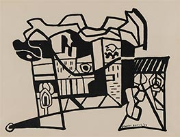 Harbor Landscape (Funnel and Smoke), 1939 by Stuart Davis | Painting Reproduction