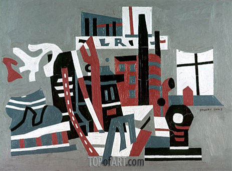 New York Waterfront, 1938 | Stuart Davis | Painting Reproduction