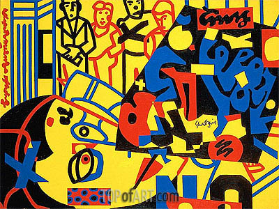 Tropes de Teens , 1956 | Stuart Davis | Painting Reproduction