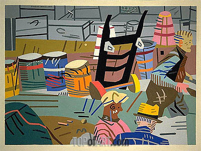 The Terminal, 1937 | Stuart Davis | Painting Reproduction
