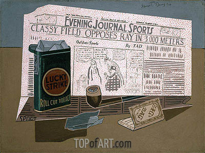 Lucky Strike, 1924 | Stuart Davis | Painting Reproduction