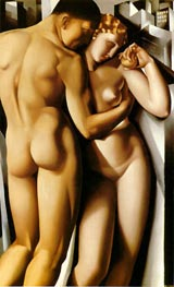Adam and Eve, 1932 by Lempicka | Painting Reproduction
