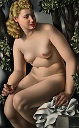 Suzanne Bathing, c.1938 by Lempicka | Painting Reproduction