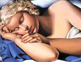 The Sleeping Girl Kizette, c.1933 by Lempicka | Painting Reproduction