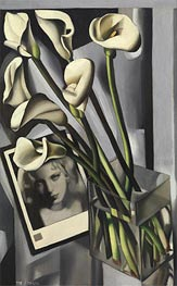 Arlette Boucard with Arums, 1931 by Lempicka | Painting Reproduction