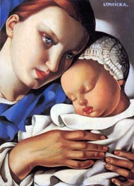 Mother and Child, 1931 by Lempicka | Painting Reproduction